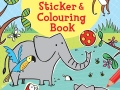 zoo sticker and colouring