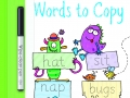 6. words to copy wipe clean